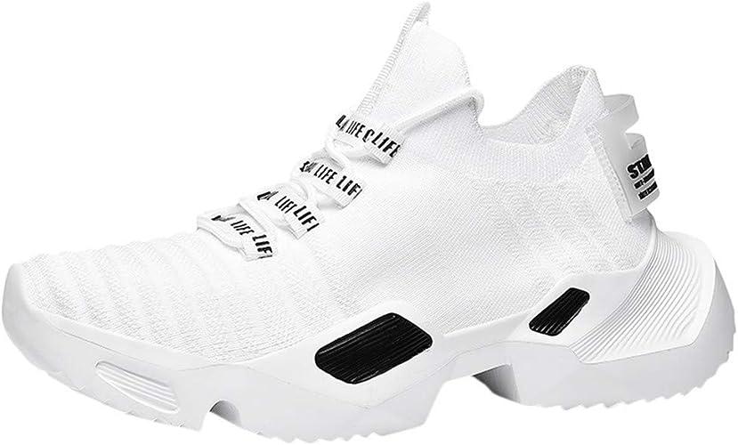 ABASSKY - Zapatillas de Deporte para Hombre, Anchas, Suaves ...