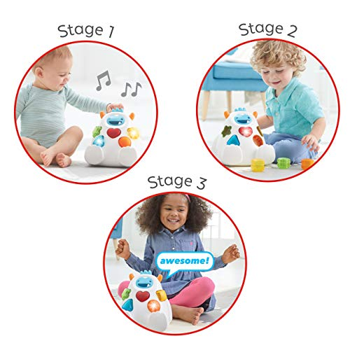 51SF2ePFhcL - Skip Hop Yeti Shape Sorter Explore & More 3-Stage Spinning & Sorting Developmental Learning Toddler Toy