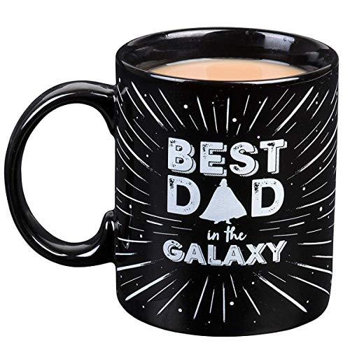 Star Wars Fathers Day Coffee Mug - Darth Vader Best Dad in the Galaxy Ceramic Mug - 11 oz