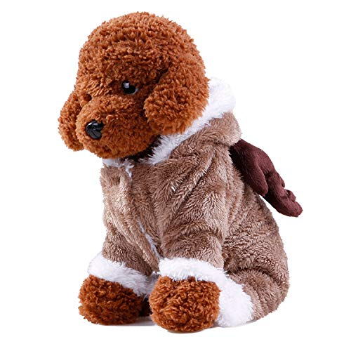 Sile Pet Clothes, Christmas Pet Dress Up Halloween Pet Clothing Winter Warm Pet Coat Thicken Jacket for Dog Cat SL-002 (Color : Brown, Size : L)]()