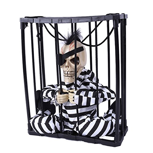(Wensltd Halloween Hanging Ghost Voice Prisoners Haunted House Bar KTV decorative)