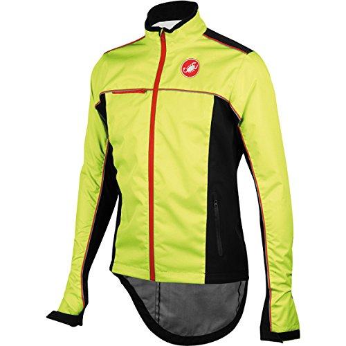 Castelli Sella Rain Jacket Yellow Fluo/Black, M - Men's