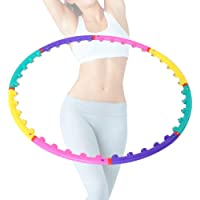Brrnoo Hula Hoop for Adults Detachable Ring Magnetic Exercise Sports Tool Diameter about 98 CM / 86 CM Waist Tightening Aerobic Exercise(8 knots)