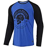 Troy Lee Designs Men's Death Wheeler L/S Shirts,Large,Blue/Black
