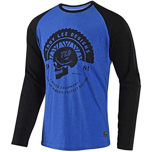 Troy Lee Designs Men's Death Wheeler L/S Shirts,Large,Blue/Black by Troy Lee Designs