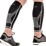 Mava Sports Calf Sleeves Compression (Pair), Leg Compression Calf Sleeve for Runners, for Men & Women, Unisex