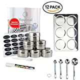 Magnetic Spice Tins Set – 12 Piece Storage and