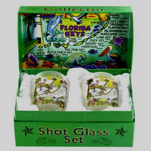 Florida Keys Boxed Shot Glass Set (Set of 2)