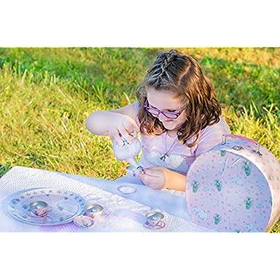 Party Animal 11 Piece Tin Tea Set: Toys & Games