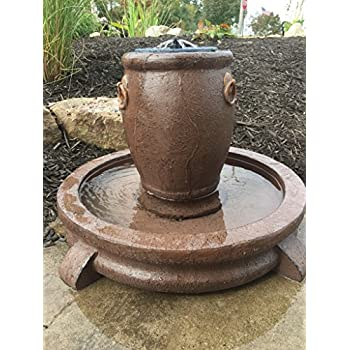 Amazon.com : Patriot Overflowing Pot Solar Fountain and Bird Bath ...