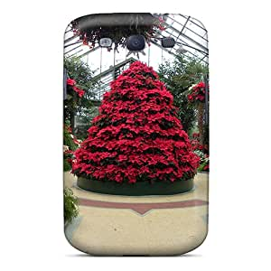 Cute Tpu SPetry Green House Christmas Case Cover For Galaxy S3