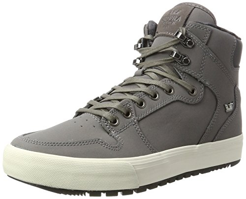 White Supra Basses Vaider CW Charcoal Gris Baskets Homme 1xwp0a16