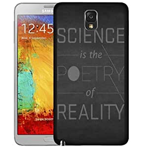 Science Is The Poetry Of Reality Quote Hard Snap On Cell Phone Case Cover (Samsung Galaxy Note III 3 N9000)