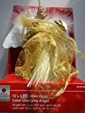 Christmas 12 in. LED Fiber Optic Angel Tree Topper