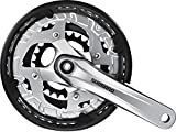 Shimano Alivio Fct 4010 Mod. 15 Crankset 22/32/44Z. 170 Mm With Bash Guard   Silver