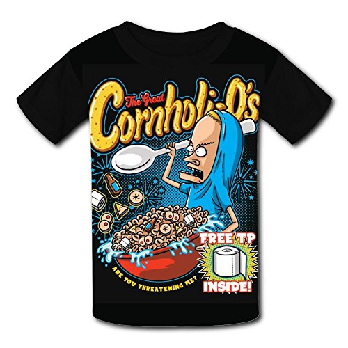 Custom Kids Cornholi-Os Tee Shirt T-Shirt for Children Boys Girls M by Mtui10