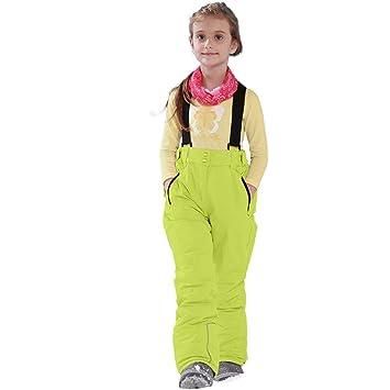 RunJuWuYe Pantalones de esquí para niñas de Invierno Pantalones a ...