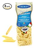 Giusto Sapore Italian Pasta - Penne Rigate 500g - 6 Pack - Premium Bronze Drawn Durum Wheat Semolina Gourmet Pasta Brand - Imported from Italy and Family Owned