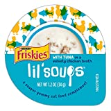 Purina Friskies Lil' Soups With Tuna In A Velvety Chicken Broth Adult Wet Cat Food Complement - (8) 1.2 Oz. Cups