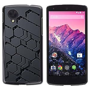 TopCaseStore / la caja del caucho duro de la cubierta de protección de la piel - Sci-Fi Pattern Alien Grey Pc Gamer - LG Google Nexus 5 D820 D821