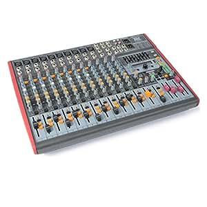Power Dynamics PDM-S1603 Mesa de mezclas 16 canales USB DSP MP3 AUX EQ FX