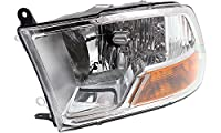 Evan-Fischer EVA13572037472 New Direct Fit Headlight Head Lamp for RAM FULL SIZE P/U 09-12 LH Assembly Halogen w/o Quad Lamps (3500 To 7-23-12) With Bulb(s) Driver Side Replaces Partslink# CH2502217