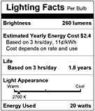 [10 Pack] Simba Lighting 20 Watt BAB 12 Volt MR16 Halogen Spotlight Bulbs 2-Pin 260lm 38° Beam Angle 20W 12V for Accent, Track Light Lamp, GU5.3 Bi-Pin Base, Glass Cover, Warm White 2700K Dimmable