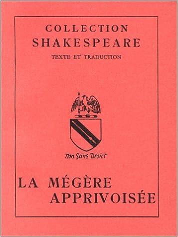 Livre La Mégère apprivoisée pdf, epub