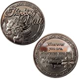 LUCKY COIN SENTIMENTAL GOOD LUCK COINS ENGRAVED MESSAGE KEEPSAKE GIFT SET CHARM (Thinking Of You)