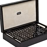 Bello Games Collezioni - Giuliano Luxury Double Six Jumbo Dominoes Set with Swarovski Crystals in a Genuine Crocodile Case from Italy