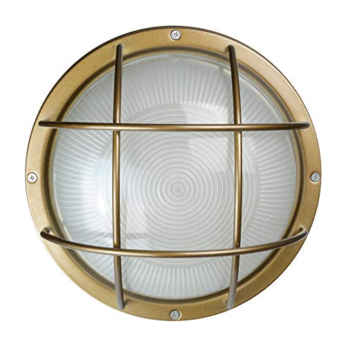 Winton Bulkhead Wall Sconce in Vintage Brass