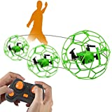 DAZHONG STUNT DRONE 2.4GZ 4CH Mini Quadcopter Drones Helicopter 6-Axis Gyroscope, Headless and Return Modes, Green/Orange Random, LED, for Beginners and Kids