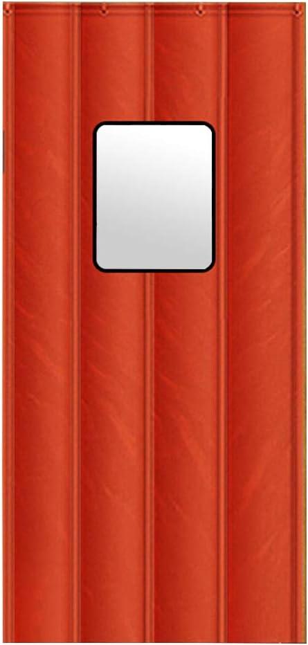 CAIJUN-Cortina de puerta Multifuncional Plegable Ventana Transparente Impermeable Mantener Caliente, 3 Estilos, 24 Tallas (Color : B, Tamaño : 150x230cm)