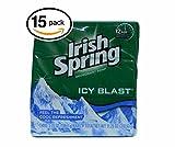 (PACK OF 15 BARS) Irish Spring MOISTURE BLAST SCENT Bar Soap for...