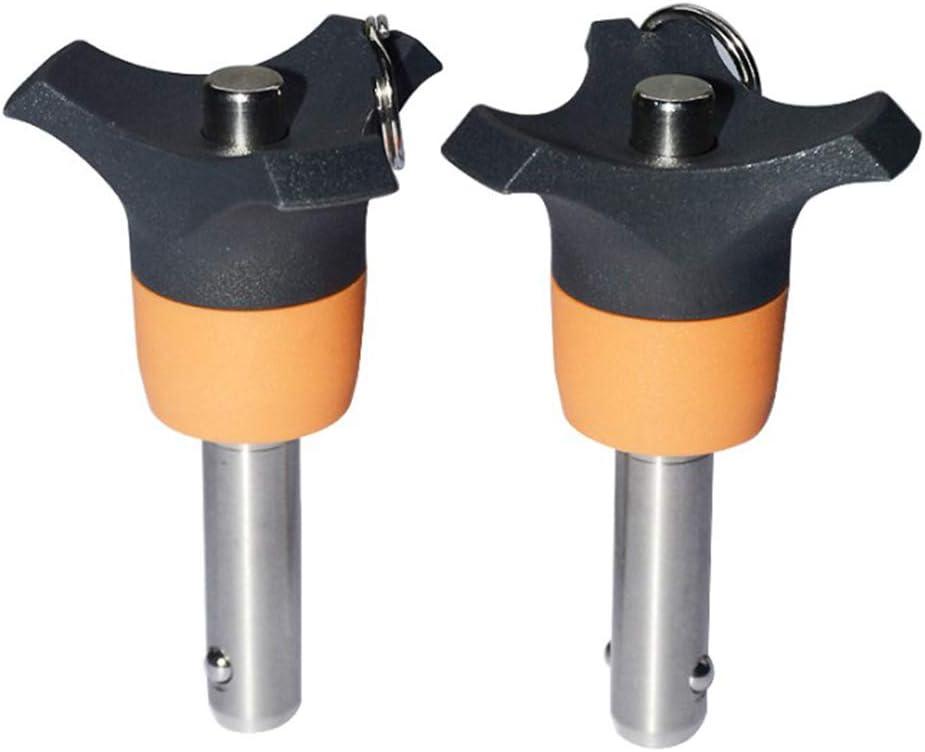 Almencla 8mm Kugelsperrbolzen Schnellverschlussstift aus Edelstahl L/änge ausw/ählbar 20mm