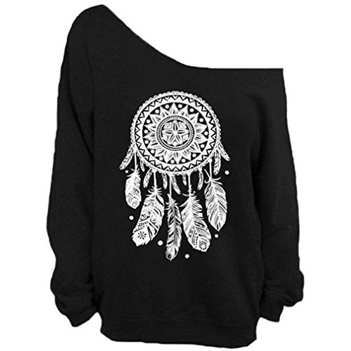Nawoshow Pullover Shoulder Slouchy Sweatshirt product image