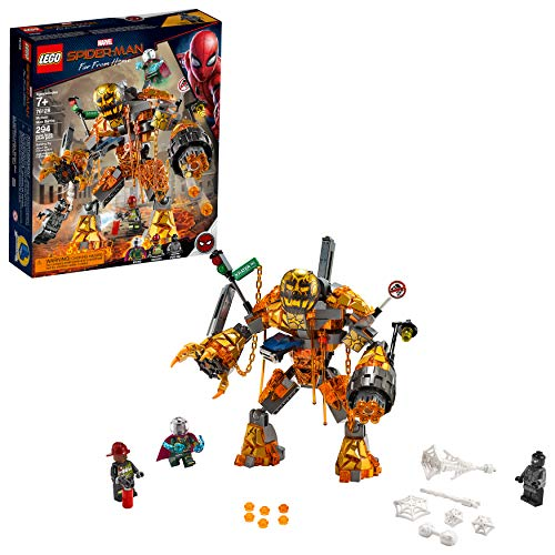 LEGO Marvel Spider-Man Far From Home: Molten Man Battle 76128 Building Kit, New 2019 (295 Piece) -