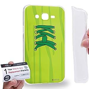 Case88 [Samsung Galaxy J7] Gel TPU Carcasa/Funda & Tarjeta de garantía - Art Fashion Green Sneakers Art2537