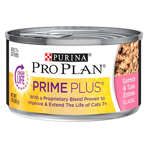- Purina Pro Plan PRIME PLUS Classic Entree Adult 7+ Wet Cat Food - (24) 3 oz. Cans