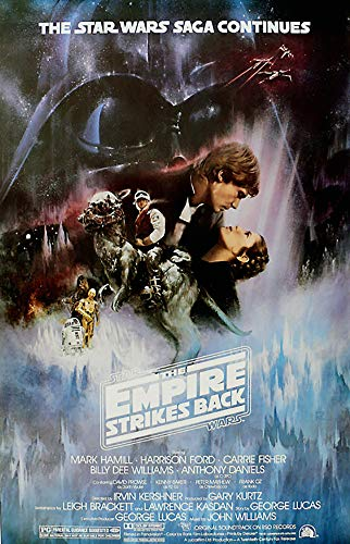 "POSTER STOP ONLINE Star Wars: Episode V - The Empire Strikes Back - Framed Poster/Print (Style A - Gone with The Wind Style) (Size: 27"" x 40"") ((Unframed, Unframed)"