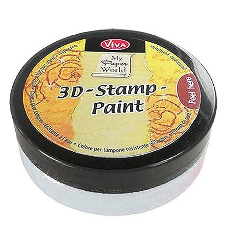 Viva Decor 119310036 3D Stamp Paint, White