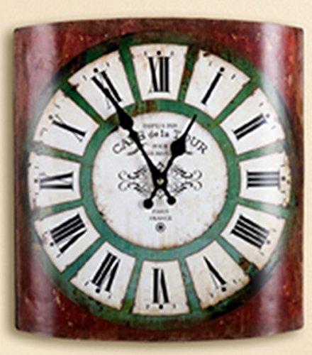 Rustikale Wanduhr gilde rustikale wanduhr cafe de la tour rot 31 5x35 cm amazon co