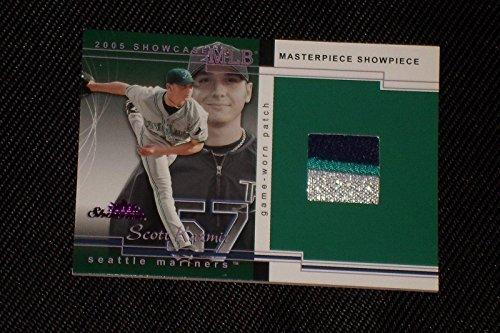 Scott Kazmir 2005 Fleer Showcase Masterpiece Showcase Game Used Jersey Only 1/1 - MLB Game Used Jerseys