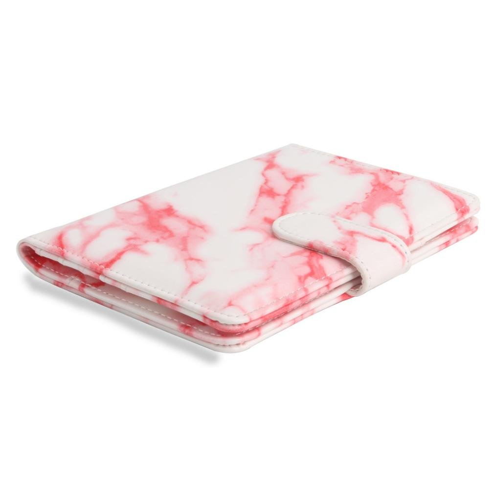 Gotian Marble Leather Passport Holder Wallet Cover Case RFID Blocking Travel Wallet A