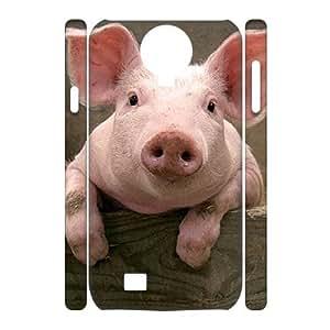 SamSung Galaxy S4 I9500 Funny Piggy 3D Art Print Design Phone Back Case DIY Hard Shell Protection HG025451