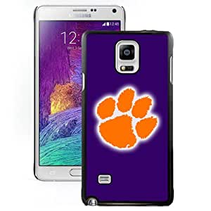 Beautiful Designed With NCAA Atlantic Coast Conference ACC Footballl Clemson Tigers 4 Protective Cell Phone Hardshell Cover Case For Samsung Galaxy Note 4 N910A N910T N910P N910V N910R4 Black