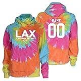 JANT Girl Custom Lacrosse Tie Dye Sweatshirt - LAX White Logo