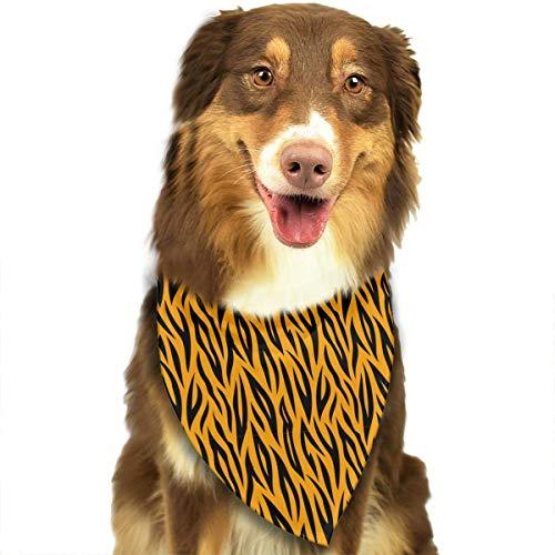- Adjustable Dog Bandanas Lightning Tiger Texture Neckerchief For Small Medium Dogs Cats Pets