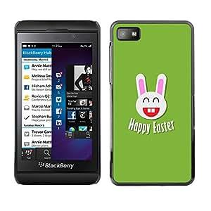 Paccase / SLIM PC / Aliminium Casa Carcasa Funda Case Cover para - Popular Easter Happiness White Rabbit Big Ears - Blackberry Z10
