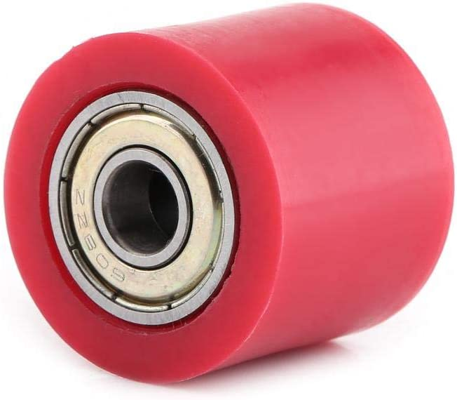 Anauto 8mm//10mm Drive Chain Pulley Roller Slider Tensioner Wheel Guide For Street Bike Motorcycle ATV 10MM-red